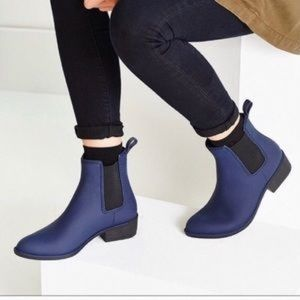 Jeffrey Campbell Rain Bootie in Blue Matte
